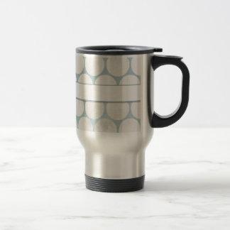 Blue & White Big Dotted Design 15 Oz Stainless Steel Travel Mug