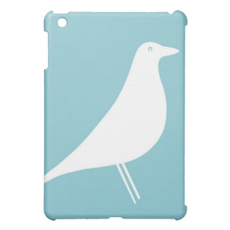 Blue & White Bird Silhouette iPad Mini Case