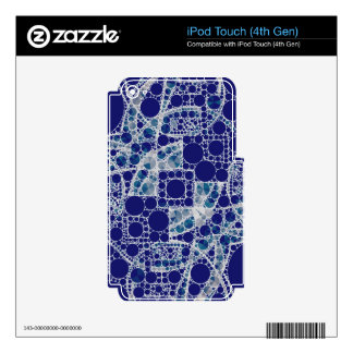 Blue White Bling iPod Touch 4G Skins