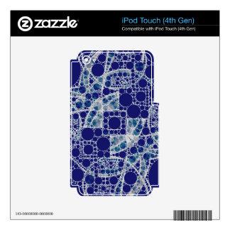 Blue White Bling iPod Touch 4G Skins