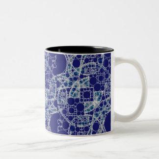 Blue White Bling Two-Tone Coffee Mug
