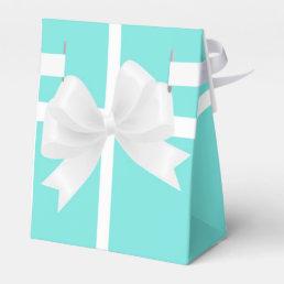 Blue & White Bow Elegant Party Favor Boxes