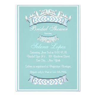 Blue White Bridal Shower Invitations