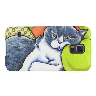 Blue White British Shorthair Cozy Off-Leash Art™ Samsung Galaxy Nexus Covers