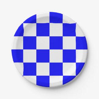 Blue/White Checkered Paper Plate