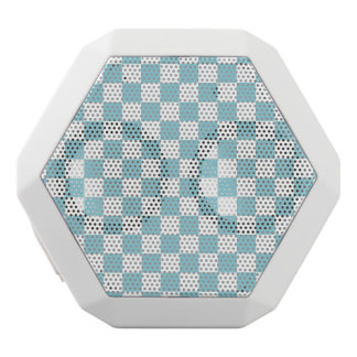 Blue White Checkered Squares White Boombot Rex Bluetooth Speaker