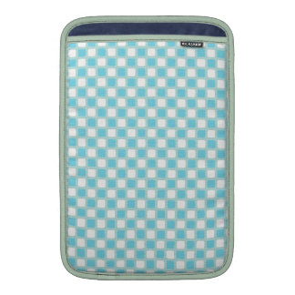 Blue White Checkers MacBook Sleeve