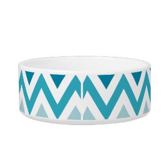 Blue White Chevron Geometric Designs Color Bowl