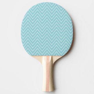 Blue White Chevron Pattern 2A Ping-Pong Paddle