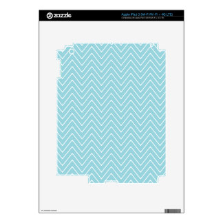 Blue White Chevron Pattern 2A Decals For iPad 3