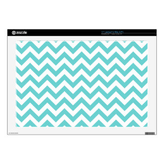 "Blue White Chevron Pattern Decal For 17"" Laptop"