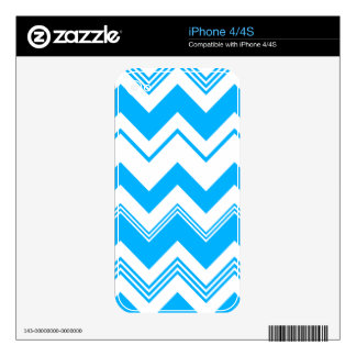 Blue White Chevron Pattern iPhone 4 Decal