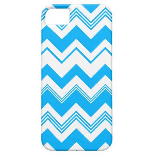 Blue White Chevron Pattern iPhone 5 Case