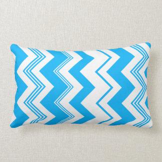 Blue White Chevron Pattern Pillow