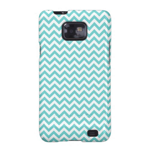 Blue White Chevron Pattern Samsung Galaxy S2 Cover