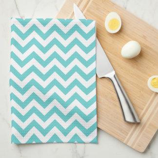 Blue White Chevron Pattern Towel