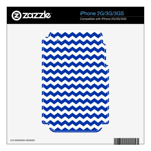 blue white chevrons skins for iPhone 3