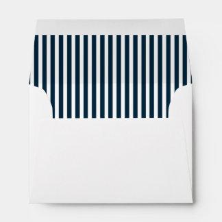 Blue & White Christmas Candy Cane Pattern Envelope