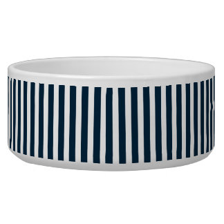 Blue & White Christmas Candy Cane Pattern Dog Water Bowls
