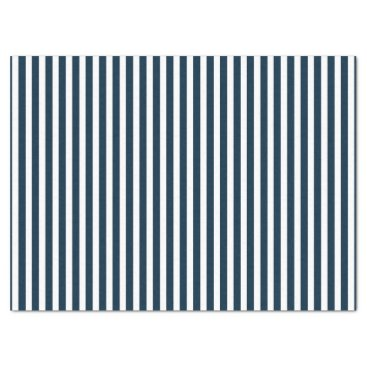 Aqua Blue & White Christmas Candy Cane Pattern Tissue Paper