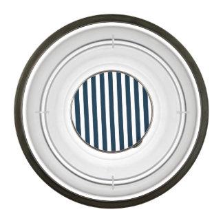 Blue & White Christmas Candy Cane Pattern Pet Bowl