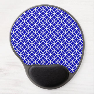 Blue White Circle of Life Gel Mouse Pad