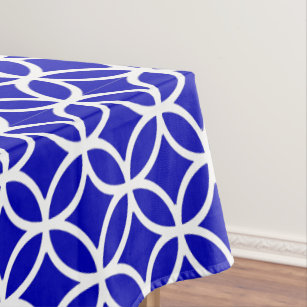 Blue White Circle of Life Tablecloth