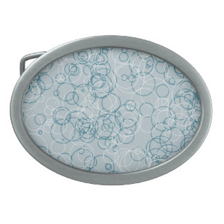 Blue White Circle Oval Buckle Oval Belt Buckle