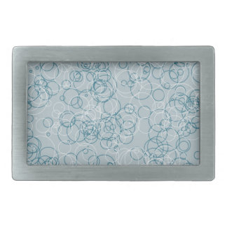 Blue White Circle Rectangle Buckle Belt Buckles