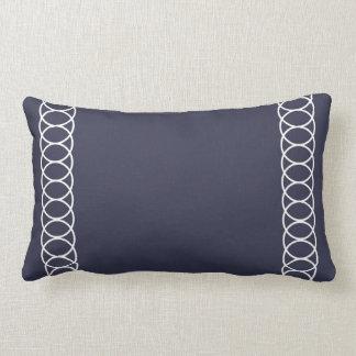 Blue & White Circle Trellis Lumbar Pillow