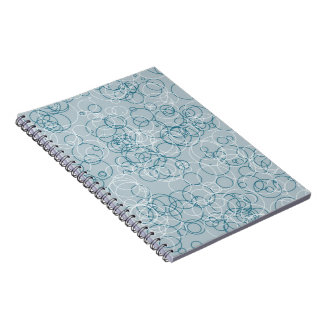 Blue White Circles Notebook