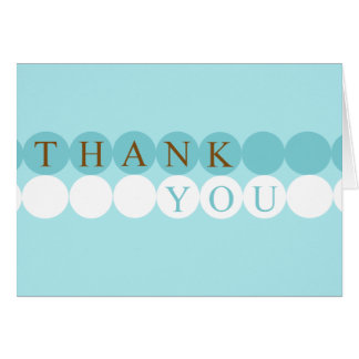 Blue & White Circles Thank You Card