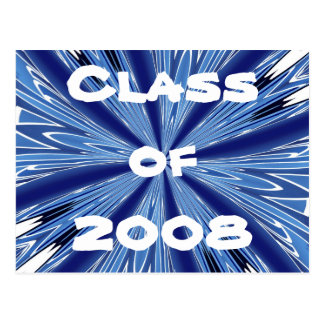 Blue & White Class of 2008 Postcard