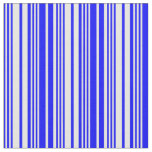 [ Thumbnail: Blue & White Colored Pattern of Stripes Fabric ]