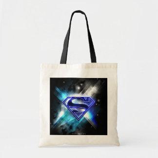 Blue-White Crystal Superman Logo Canvas Bags