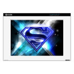 Blue-White Crystal Superman Logo Decals For Laptops