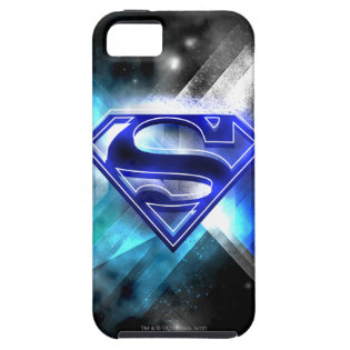 Blue-White Crystal Superman Logo iPhone 5 Cases