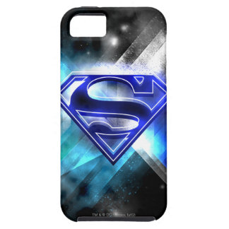 Blue-White Crystal Superman Logo iPhone 5 Cover