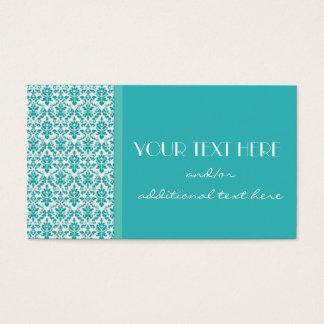 Blue&White Damask Business Card
