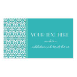 Blue&White Damask Business Card Templates