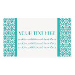 Blue&White Damask Business Cards