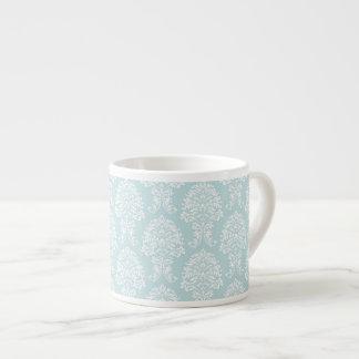 Blue White Damask Pattern Design Art 6 Oz Ceramic Espresso Cup