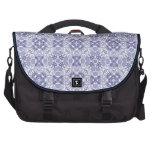Blue White Deco Floral Commuter Bag