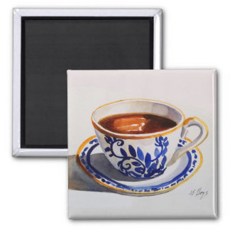 Blue & White Delft China Teacup Magnet
