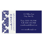 Blue & White Delight Double-Sided Standard Business Cards (Pack Of 100)