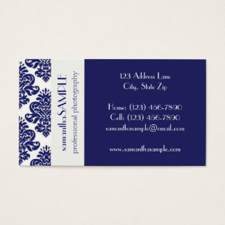 Blue & White Delight Business Card