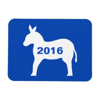 Blue White Democrat Donkey 2016 Election Rectangular Photo Magnet