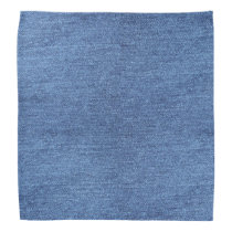 Blue White Denim Texture Look Image Bandana