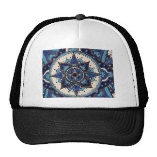 Blue & White Design Turkish Iznik Trucker Hat