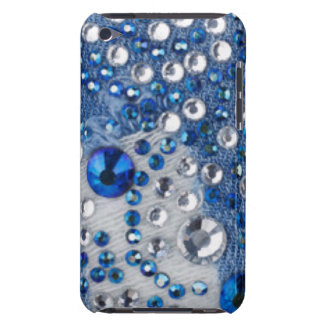 Blue & White Diamonds Blue Jean Pattern Design Barely There iPod Cover